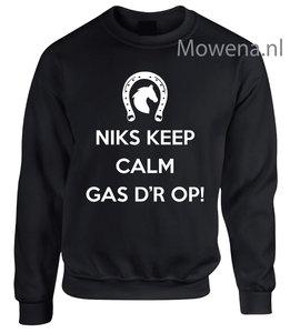 Sweater niks keep calm gas erop  SP0010