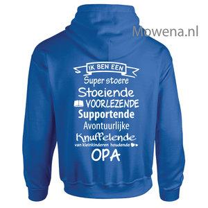 hoodie voorlezende Opa H00083