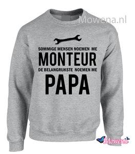 Sweater monteur noemen me papa M007
