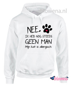 hoodie Nee ik heb nog steeds geen kat mijn hond is allergisch PH0108