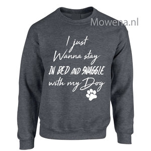 sweater I just wanna stay in my bed div kleuren DV060