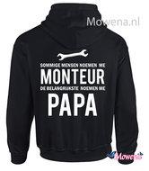 hoodie monteur noemen me papa M007