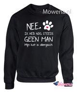 Sweater Nee ik heb nog steeds geen Man mijn kat is allergisch  SP0108