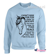 Sweater-I-dont-ride-for-fun-voorkant-of-achterkant-opdruk-SP0133