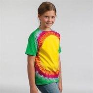 Unisex-kinder-T-shirt-TD06B-Regenboog-Sunburst