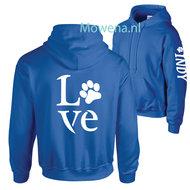 Hoodie-love-met-hondenpootje-div.-kleuren