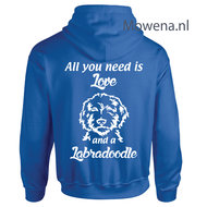Hoodie-Labradoodle-all-you-need-is-love-ak-div.kleuren-DH0058