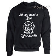 Sweater-labradoodle-al-you-need-is-love-vk-div.kleuren-DS058