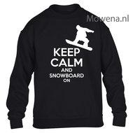Kids-sweater-keep-calm-snowboarden-vk-opdruk-div-kleuren-KHW0067