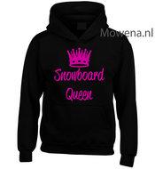 Kids-hoodie-snowboard-queen-vk-opdruk-div-kleuren-KHW0069