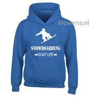 Kids-hoodie-snowboarding-is-my-life-vk-opdruk-div-kleuren-KHW0070