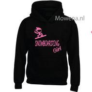 Kids-hoodie-Snowboarding-girl-vk-opdruk-div-kleuren-KHW0072