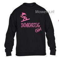 Kids-sweater-Snowboarding-girl-vk-opdruk-div-kleuren-KHW0072