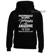 Prinses-als-amazone-hoodie-voorkant-opdruk-div-kleuren-KH0089