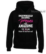 Prinses-als-amazone-hoodie-2-kleuren-opdruk-voorkant-KH0089