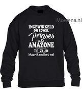 Prinses-als-amazone-sweater-opdruk-voorkant-KH0089