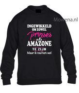 Prinses-als-amazone-sweater-2-kleuren-opdruk-voorkant-KH0089