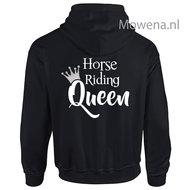 Vest-horse-zilveren-kroontje-riding-Queen-div-kleuren--PV0091-zilver