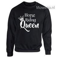 Sweater-zilveren-kroontje-horse-riding-Queen-voorkant-opdruk-div.kleuren-SP091