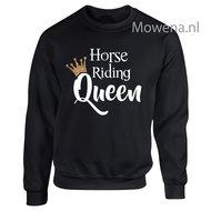 Sweater-gouden-kroontje-horse-riding-Queen-voorkant-opdruk-div.kleuren-SP091