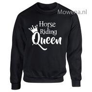 Sweater-horse-riding-Queen-voorkant-opdruk-div.kleuren-SP091