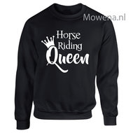 Sweater-horse-riding-Queen-opdruk-voorkant-KH0091