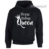 horse-riding-Queen-hoodie-voorkant-opdruk-div-kleuren-KH0091