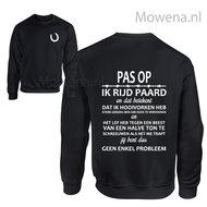 Sweater-Ik-rijd-paard-opdruk-voorkant-KS0052