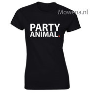 Party-animal-dames-shirt-div.-kleuren-LFD007