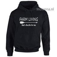 hoodie--farming-living-thats-the-life-for-me-div-kleuren--BOER004