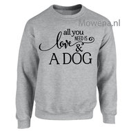 Sweater-all-you-need-is-love-&-a-dog-Sp0105