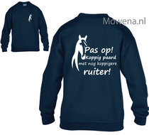 Pas-op-koppig-paard-ruiter-Sweater-kids-vk-KH0096