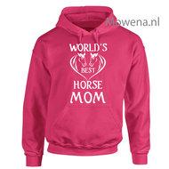 Hoodie--worlds-best-horse-mom-voor-of-achterkant-opdruk-mogelijk-PH0113